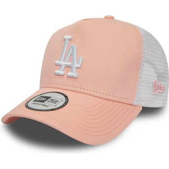 Gorra trucker rosa League Essential A Frame de Los Angeles Dodgers MLB de New Era