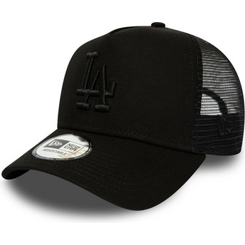 Gorra trucker negra con logo negro League Essential A Frame de Los Angeles Dodgers MLB de New Era