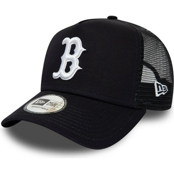 Gorra trucker azul marino League Essential A Frame de Boston Red Sox MLB de New Era