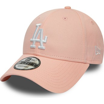 Gorra curva rosa ajustable 9FORTY League Essential de Los Angeles Dodgers MLB de New Era