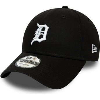 Gorra curva negra ajustable 9FORTY League Essential de Detroit Tigers MLB de New Era