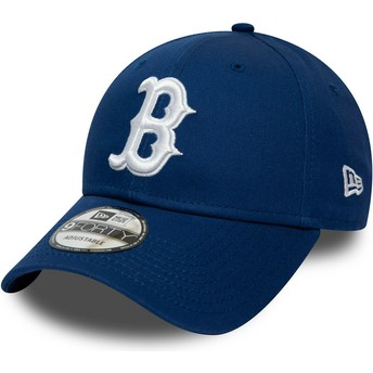 Gorra curva azul ajustable 9FORTY League Essential de Boston Red Sox MLB de New Era