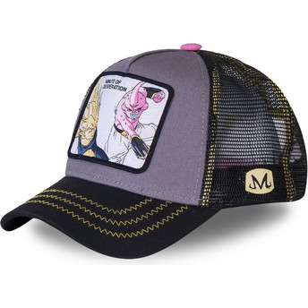 Gorra trucker gris Vegeta Vs Kid Buu Minute of Desperation DES1 Dragon Ball de Capslab