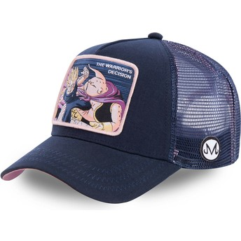 Gorra trucker azul marino Vegeta Vs Buu Warrior's Decision FIN1 Dragon Ball de Capslab