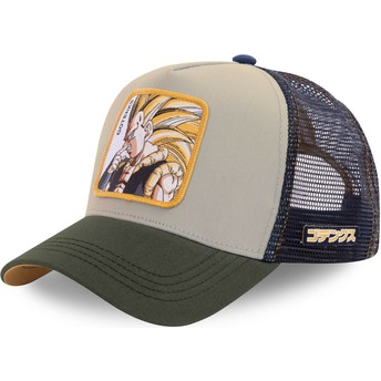 Gorra trucker gris y azul marino Gotenks Super Saiyan 3 GOT1 Dragon Ball de Capslab