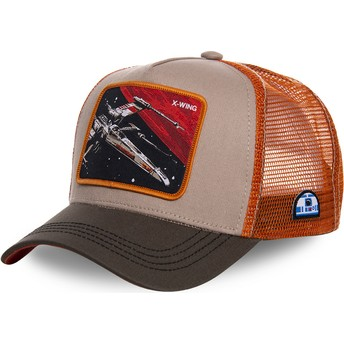 Gorra trucker gris y naranja X-wing starfighter LTD5 Star Wars de Capslab