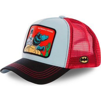 Gorra trucker azul y roja Batman & Robin MEM1 DC Comics de Capslab