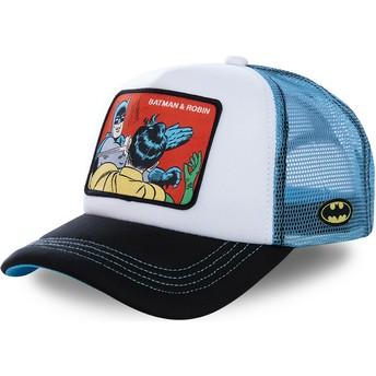 Gorra trucker blanca y azul Batman & Robin MEM4 DC Comics de Capslab