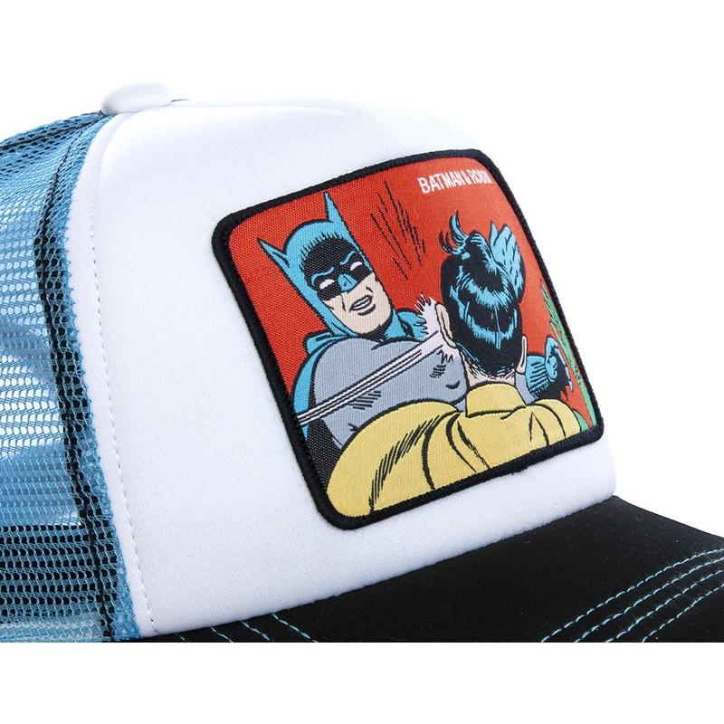10c0bc07eb2b Gorra trucker blanca y azul Batman & Robin MEM4 DC Comics de Capslab