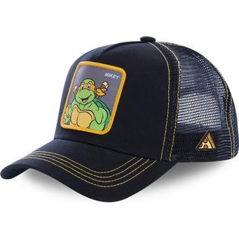 Gorra trucker negra Michelangelo MIK Tortugas Ninja de Capslab