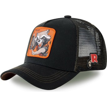 Gorra trucker negra Rocket Raccoon ROC4 Marvel Comics de Capslab