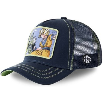 Gorra trucker azul marino Cell Vs Goku GAM1 Dragon Ball de Capslab