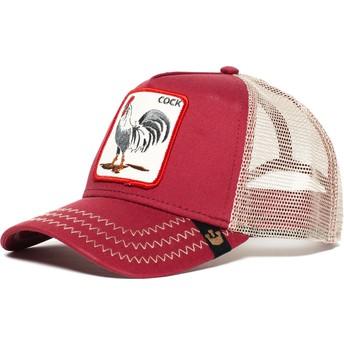 Gorra trucker roja gallo Rooster de Goorin Bros.