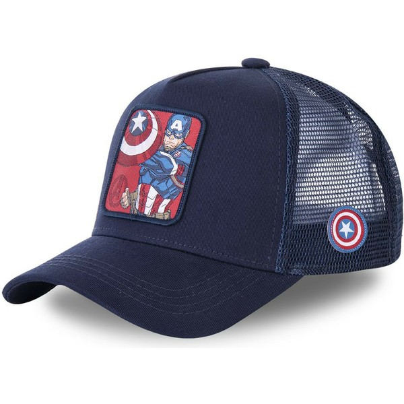 78fd05afaeef Gorra trucker azul marino Capitán América CPT1 Marvel Comics de Capslab