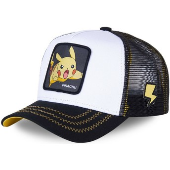 Gorra trucker blanca y negra Pikachu PIK5 Pokémon de Capslab
