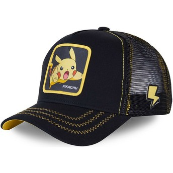 Gorra trucker negra Pikachu PIK7 Pokémon de Capslab