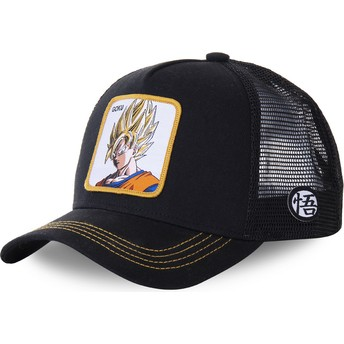 Gorra trucker negra Son Goku Super Saiyan GO4 Dragon Ball de Capslab