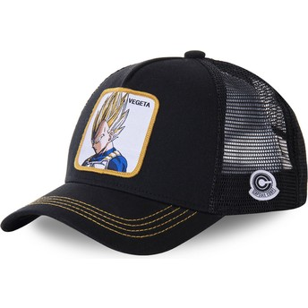 Gorra trucker negra Vegeta Super Saiyan VE4 Dragon Ball de Capslab