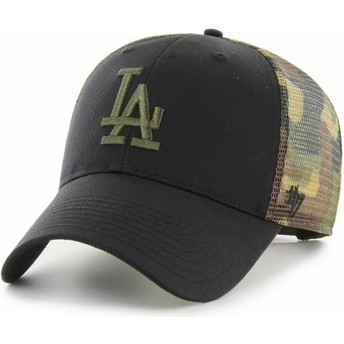 Gorra trucker negra y camuflaje MVP Back Switch de Los Angeles Dodgers MLB de 47 Brand