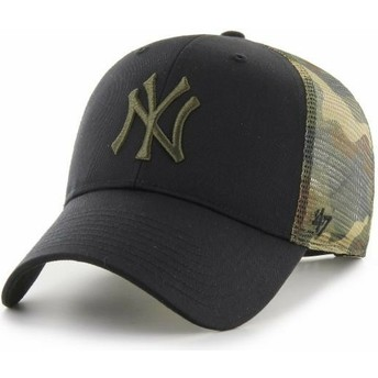 Gorra trucker negra y camuflaje MVP Back Switch de New York Yankees MLB de 47 Brand