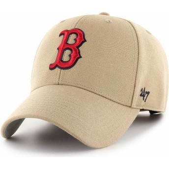 Gorra curva khaki ajustable MVP de Boston Red Sox MLB de 47 Brand