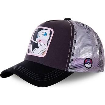 Gorra trucker negra y blanca Mew MEW3 Pokémon de Capslab