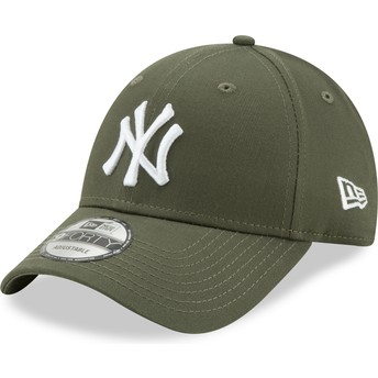 Gorra curva verde ajustable 9FORTY League Essential de New York Yankees MLB de New Era