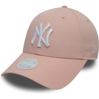 Gorra curva rosa ajustable 9FORTY League Essential de New York Yankees MLB de New Era