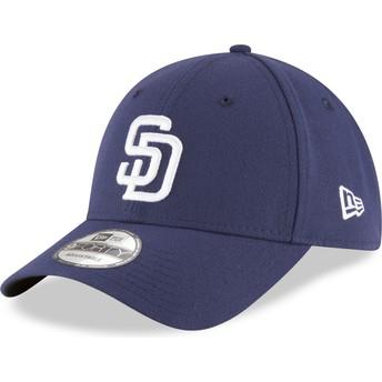 Gorra curva azul marino ajustable 9FORTY The League de San Diego Padres MLB de New Era