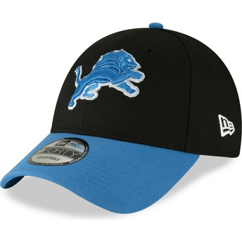 Gorra curva negra ajustable 9FORTY The League de Detroit Lions NFL de New Era
