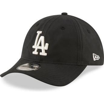 Gorra curva negra ajustable 9TWENTY Nylon Packable de Los Angeles Dodgers MLB de New Era
