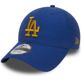 Gorra curva azul ajustable con logo dorado 9TWENTY Nylon Packable de Los Angeles Dodgers MLB de New Era