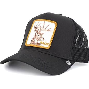 Gorra trucker negra ciervo Rack It de Goorin Bros.