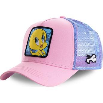 Gorra trucker rosa y azul Piolín TWE1 Looney Tunes de Capslab