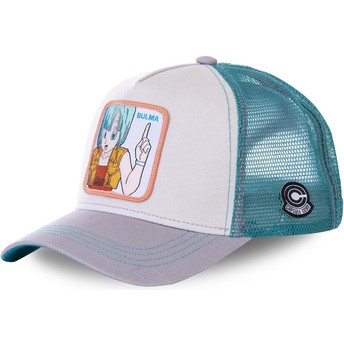 Gorra trucker blanca, azul y gris Bulma BUL1 Dragon Ball de Capslab