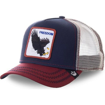 Gorra trucker azul marino águila Let It Ring de Goorin Bros.