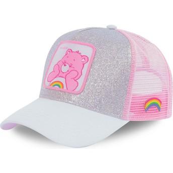 Gorra trucker gris y rosa purpurina Alegrosita CAL Osos Amorosos de Capslab