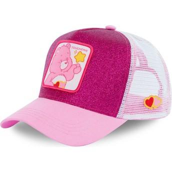 Gorra trucker rosa purpurina Amorosita CHE02 Osos Amorosos de Capslab