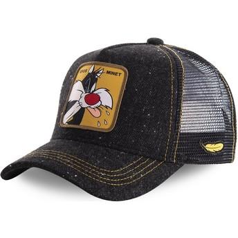 Gorra trucker negra Silvestre LOOMIN1 Looney Tunes de Capslab
