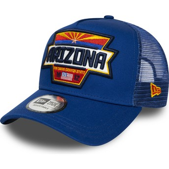 Gorra trucker azul A Frame USA Patch Arizona de New Era