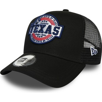 Gorra trucker negra A Frame USA Patch Texas de New Era