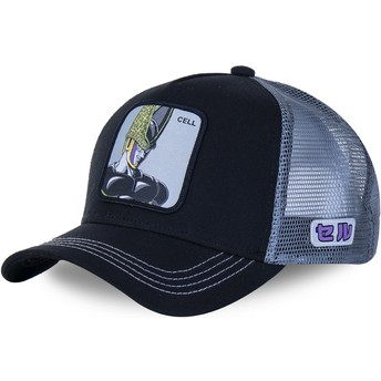 Gorra trucker negra y gris Cell CELB Dragon Ball de Capslab