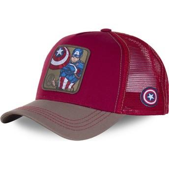 Gorra trucker roja Capitán América CPT3 Marvel Comics de Capslab