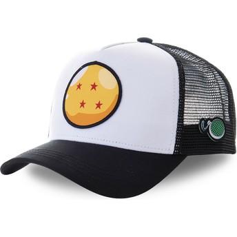 Gorra trucker blanca y negra Bola de Dragón 4 Estrellas CRI2 Dragon Ball de Capslab