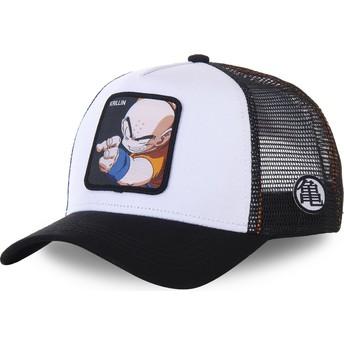 Gorra trucker blanca y negra Krillin KRI Dragon Ball de Capslab