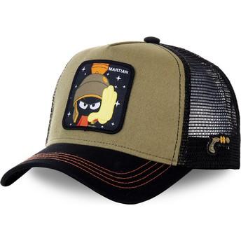 Gorra trucker marrón y negra Marvin el Marciano MAR2 Looney Tunes de Capslab