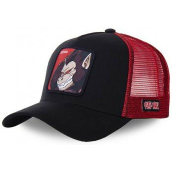 Gorra trucker negra y roja Saiyan Great Ape SAI Dragon Ball de Capslab