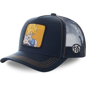 Gorra trucker azul marino Son Goku Super Saiyan SAY3 Dragon Ball de Capslab