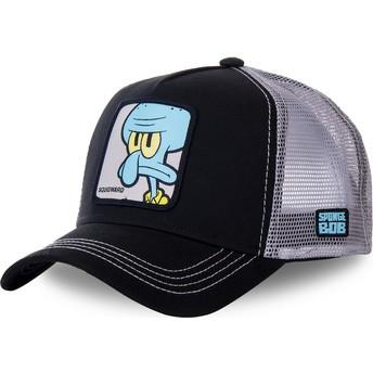 Gorra trucker negra y gris Calamardo Tentáculos SQU Bob Esponja de Capslab
