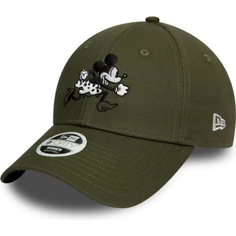 Gorra curva verde ajustable 9FORTY Minnie Mouse Disney de New Era